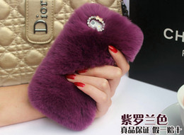 Colorful Leather and Fur Cases for phone 6 phone 5 Galaxy S4 S5 Note3 Note4 Diamond Cases