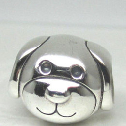 Devoted Dog Charm S925 Sterling Silver Bead with Clear Cz Fits European Pandora Jewelry Bracelets Necklaces & Pendant