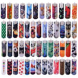 Topshop socks Harajuku ladies ankle socks Cotton sports socks Cotton Wome socks 3D digital Printing Harajuku socks