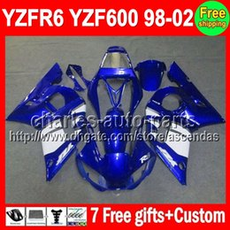 Wholesale Factory blue gifts For YAMAHA YZF R6 YZF600 C L502 YZF YZF R6 YZFR6 Fairing Kit On sale