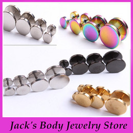 6-12MM Mix Stainless Steel Fake Ear Plug Barbell Earring Cheater Expanders Plugs Body Piercing Jewelry