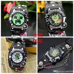 Wholesale My world Minecraft watch young men and women watch belt chain watch anime game peripheral products send battery and watch box