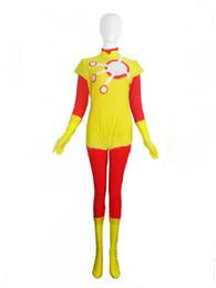 DC Comics Firestorm Spandex Superhero Costume Cosplay Halloween Lycra Spandex Zentai Suit