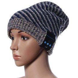 Wholesale 2015 Tonsee winter Soft Wool Hat Wireless Bluetooth Smart Cap Headset Headphone Speaker Mic Bulk purchase