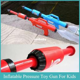 Toy Gun Inflatable Pressure Gun Cola Water Fight Blaster Super Soaker Gun Fits Screw Top Bottles Outdoor Fun Squirt Gun