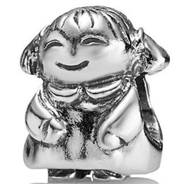 New Arrival Cute Teddy Bear Beads 925 Sterling Silver European Style Charm fit Snake Chain Bracelets Pandora charms Wholesale Jewelry