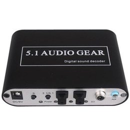 Wholesale Panlong Audio Gear Digital Sound Decoder Converter Optical SPDIF Coaxial Dolby AC3 DTS to CH Analog Audio