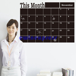Black Month plan Calendar chalk board chalkboard wall stickers decal home decor removable Vinyl Wall Murals decals stickers wallpaper