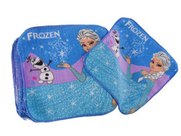 Baby Cartoon Face Towel kids cartoon frozen elsa olaf frozen wash cloth cotton bath towel for children frozen face cloth