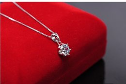 100% 925 sterling silver 1 Ct Luxury silver synthetic diamond water drop pendant for women wedding necklaces & pendants jewelry for women