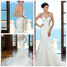 Sexy Wedding Dresses 2016 Berta Bridal Gowns Sweetheart Lace Mermaid Gown With Beaded Straps Luxury Wedding Gowns