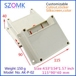 szomk din enclosure plastic box (10 pcs) 115*90*40mm plastic enclosure box abs project box instrument enclosure control box