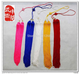[MARIA'S store] Lengthen(90cm),1PCS Ice Silk Tai Chi Sword Ear, Kung Fu Sword Tassel, Multi Colors bulk quality - Free Shipping