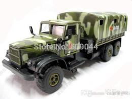 Wholesale retail New Russian KRAZ Army Military Truck Siku Size Sound And Light Work