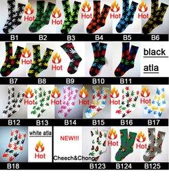 Wholesale 200pcs pair Cotton FREE FEDEX mixed color men diamond Maple Leaf Thicken hiphop street Skateboarding Sport Socks