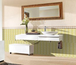 Wholesale Home decoration Crystal glass mosaic backdrop golden arch European tile wall stickers living room TV cabinet wall tiles