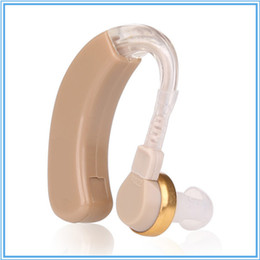 Wholesale Hearing Aids Sound Amplifier Aid Volume Adjustable Behind Ear Audiphones Deaf Sound Voice Enhancement With Battery Inside