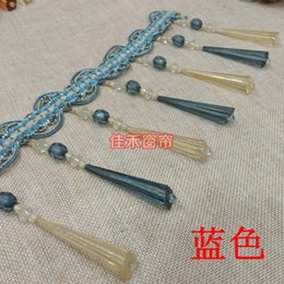 Wholesale Curtain Lamps clothing accessories lace fringed beaded edge spike crystal beads hanging beads color crystal beads