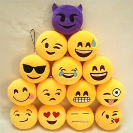 14 Styles Emoji Mobile Pendants Face Emotions Joy Love Smiley Plush Toy Key Chain 8cm Stuffed Toys Doll Charm For Handbag Phones Pendant