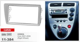 CARAV 11-384 Top Quality Radio Fascia for HONDA Civic 2001-2006 (Right Wheel Silver) Stereo Fascia Dash CD Trim Installation Kit