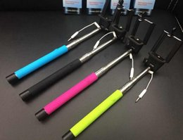 Wholesale Z07 S Extendable Wired Monopod Selfie Stick Tripod Handheld Monopod Cable Take Pole for IOS Android