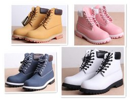 Wholesale-Winter White Snow Boots Brand Men Women Genuine Leather Waterproof Outdoor Boots Leather Hiking Shoes Leisure Ankle Boots
