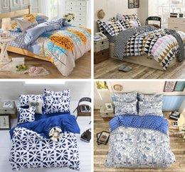 Wholesale 2016 new best price Cotton bedding set Bed Flat Sheet Quilt Duvet Covers PillowCase Bedclothes Bed Linen