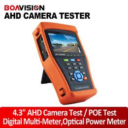 Wholesale 4 Inch IP Camera Tester CCTV Tester Monitor IP AHD Camera Testing PTZ Control POE Test Digital Multi Meter Optical Power Meter
