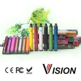 Torsion ii en Ligne-Top Vision spinner II 1650mAh Ego torsion 3.3 4.8V batterie de tension variable pour cigarettes électroniques vision spinner 2