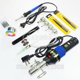220V-240V 450W LCD Adjustable Heat Hot Air Gun Desoldering Soldering Station IC 8018LCD + 60W Temperature Adjust Soldering Iron