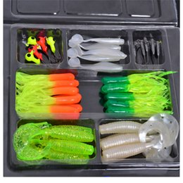 Wholesale New Arrivals Worm Fishing Lures Soft Baits Lead Head Hooks Combination Set Small Plastic LF3
