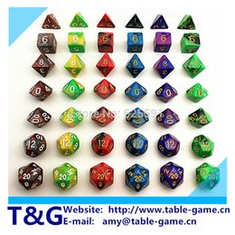 Wholesale Top Quality New color Magic Dice Set with Nebula effect dados game rpg juguetes brinquedos Board game