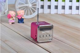 Wholesale TD V26 Mini Portable Speaker Micro SD TF Card USB Disk MP3 Music Player Amplifier FM Radio digital speaker best tatar