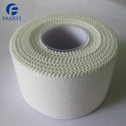 Wholesale 400pcs White jagg sports tape cloth kneepad fitted bandage cm m kinesiology tape kinesio sports tape medical dressings