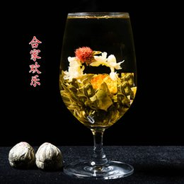Wholesale Handmade Blooming Flower Tea Chinese Jasmine Pearl Flower Tea Artistic Health Care Tea g
