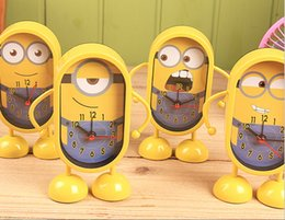 Wholesale In Stock Despicable Me Minions Alarm Clock Most Popular Carton Movie Neddle Desk and Table Battery Alarm Clock