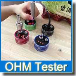 Ohm meter digital e cigarette resistance tester 510 ohm meter eGo Ohm Meter Atomizer Ohm Tester for 510 RBA RDA ego evod ce4 MT3