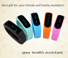 Wholesale E02 Fashion Bluetooth Smart Bracelet Anti Lost Sports Sleep Monitor Call SMS Remind Smart Watch For Android cell Phone iPhone