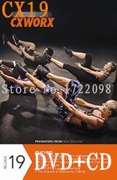 Wholesale LMS New Routine CX CXWORX CX19 Minutes Core Training CX30 WORX BODYCXWORX DVD CD Exercise Fitness Videos