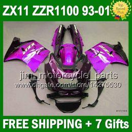 Purple black 93-01 For KAWASAKI NINJA ZX11 1993 1995 3J6158 Stock purple ZX-11 ZZR 1100 11 1996 1998 ZZR1100 ZX11R 1999 2000 2001 Fairing