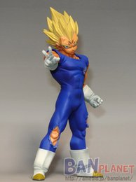 Wholesale BANPRESTO MSP Dragon Ball Z Vegeta Figure DXF Super Saiyan Prince Vegeta CM Dragon Ball Z Kai Collectible Model Toy Figuras
