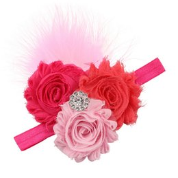 The latest feather hair band Europe sunflowers infant baby headband 16 colors optional 10pcs