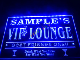 Wholesale DZ039 b Name Personalized Custom VIP Lounge Best Friends Only Bar Beer Neon Sign JPG