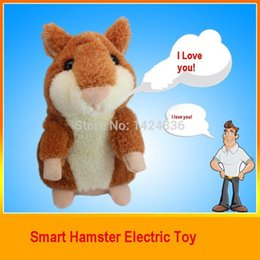 Lovely Talking Hamster Educational Mini Sounding Interactive Plush Toy Speak Talking Record Hamster Talking Toys for Children