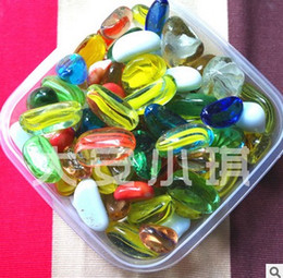 Wholesale stained glass stone landscaping aquarium fish tank ornaments Simulation foreshadowing glass stone stone 500g