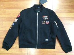 Wholesale Fall Rare new hip hop fashion fgss stickers embroidery zipper Baseball jacket in black