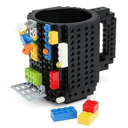 Wholesale FedEX Pieces oz Vintage Build on Brick Mug Creative DIY Puzzle Block Coffee Cup Mugs