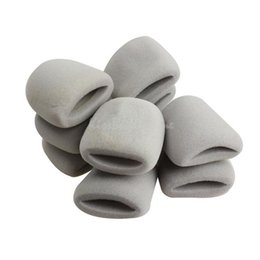 Wholesale 10Pcs Thicken Microphone Grill Foam Cover Mic Shield Sponge Cap Holder Gray K5BO