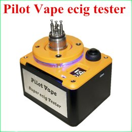 Wholesale Pilot Vape Super Ecig Tester Tab Ohm meter Multi Functional Mod for RDA Atomizer Coil Rebuilding Device in stock DHL Free to USA