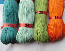 1mm 26 Colors Waxed Cotton Cord Rope String Beading String Cord Jewelry Making DIY Cord 450m
